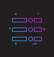 menu icon design vector image vector image