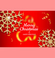 merry christmas and happy new year holiday invite vector image vector image
