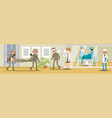 military hospital concept vector image vector image