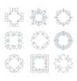 monochrome monogramm collection vector image vector image