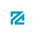 pc letter based logo icon blue color design vector image vector image