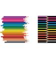 pencils collage vector image vector image