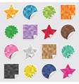 polygon stickers vector image vector image