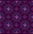 purple mandala floral pattern on purple background vector image vector image
