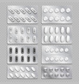 realistic 3d drugs packaging painkiller pills vector image vector image