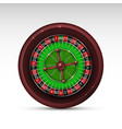 realistic casino gambling roulette wheel isolated vector image vector image