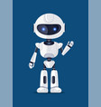 robot waving and greeting vector image vector image