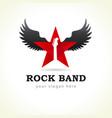 rock star flying logo vector image
