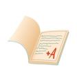 School diary icon cartoon style vector image vector image