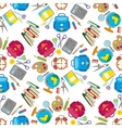 school seamless pattern on white background vector image