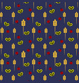 seamless pattern of ladybirds and butterflies vector image