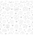 seamless pattern with love and romance icons vector image vector image