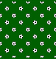 seamless pattern with soccer balls on green vector image vector image