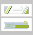 set of design banner background vector image vector image