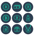 set of icons about money with bitcoin symbols vector image vector image