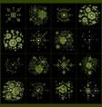 set of modular bauhaus green backgrounds created vector image