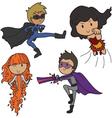 set super heroes vector image vector image
