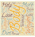 Simple Ways To Lose Weight text background vector image vector image
