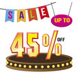 special 45 offer sale tag isolated vector image vector image