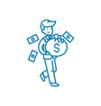 successful entrepreneur linear icon concept vector image