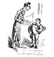 teacher and pupil vintage vector image vector image