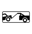 towed vehicle sign warning road sign vector image