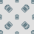 trash icon sign Seamless pattern with geometric vector image