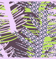 tropical seamless pattern with palm leaves in vector image vector image