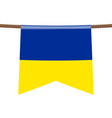 ukraine national flags hangs on ropes vector image vector image