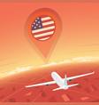united states flight destination vector image vector image
