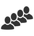 user queue flat icon vector image