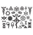 x medieval occult signs and magic stamps vector image vector image