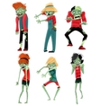 Zombie Monsters Characters Game Figures Set vector image