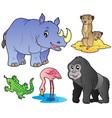 zoo animals set 1 vector image