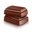 milk chocolate bar vector image