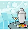 retro of martini style vector image