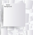 white paper with shadow vector image