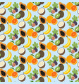 exotic fruit pattern vector image