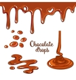Set of chocolate drops and blots isolated on white vector image