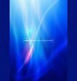 abstract curving and smooth flow blue background vector image vector image