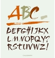 Acrylic Brush Style Hand Drawn Alphabet vector image vector image