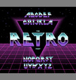 alphabet 80 s retro font typography vector image vector image