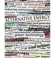 alternative energy headlines vector image vector image