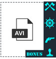 avi icon flat vector image vector image