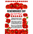 banner with red poppies vector image vector image