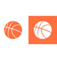 basketball ball icon isolated basket ball vector image vector image