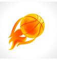 basketball flame logo vector image vector image