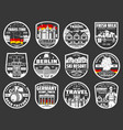 berlin city tours welcome to germany landmarks vector image vector image
