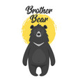 black bear design for t-shirt vector image vector image