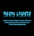 bright neon alphabet letter blue vector image
